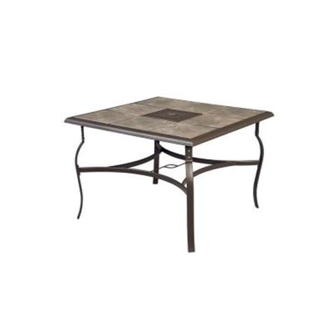 home depot patio table hton bay belleville 40 in square patio dining table