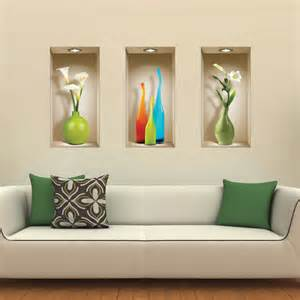 set 3 wall sticker 3d decals picture removable home decor vinyl tile mural ebay
