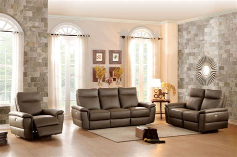 reclining living room set furniture olympia reclining leather living room set