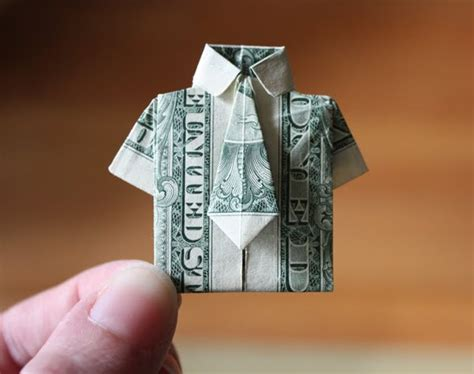 origami dollar shirt and tie essential skill money origami how about orange