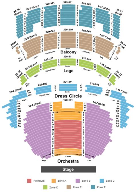 Cadillac Theatre Box Office by Tickets Seating Chart Cadillac Palace
