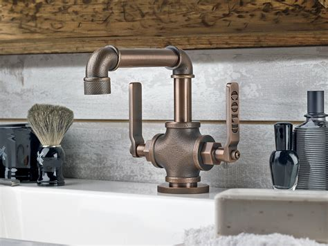 industrial style bathroom fixtures industrial style faucets by watermark to give your