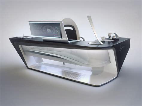 modern desk design by encho enchev sci fi 3d cgsociety