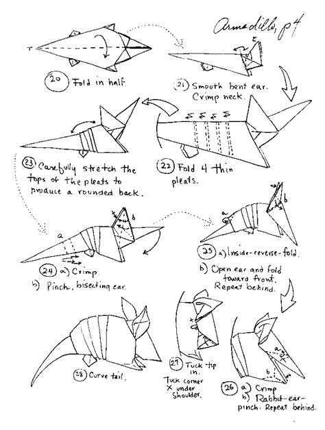 difficult origami diagrams origami animals