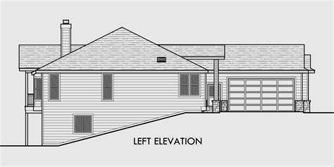 house plans with basement garage one story house plans daylight basement house plans side
