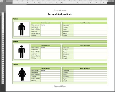 picture book database template for address book database conference excel phone