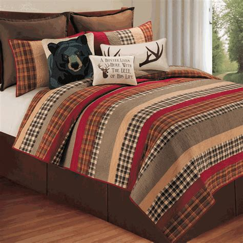 rustic cabin bedding sets rustic bedding size cabin retreat quilt black