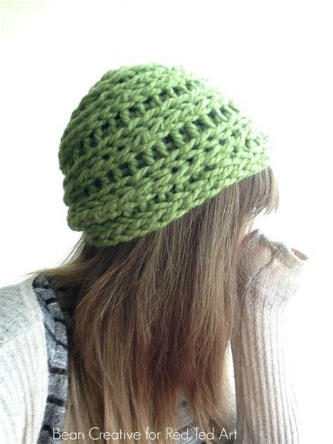 how do you finger knit a hat how to finger knit a beanie hat diy ted s
