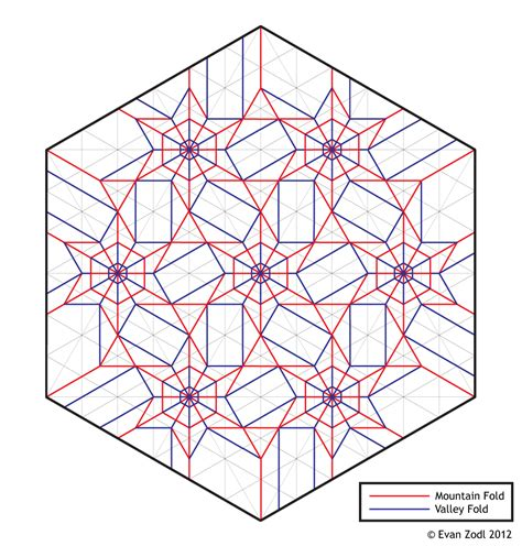 origami tessellation diagrams flower tessellation ez origami