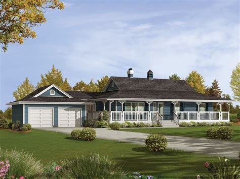 ranch house with wrap around porch caldean country ranch home plan 062d 0041 house plans and more