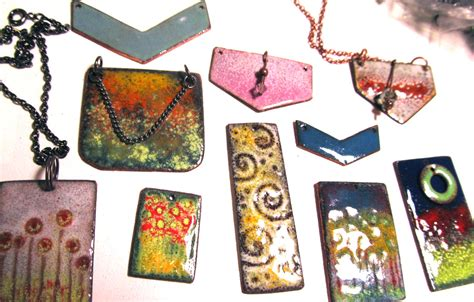 how to make copper enamel jewelry enameled copper earrings torchedfusion page 3