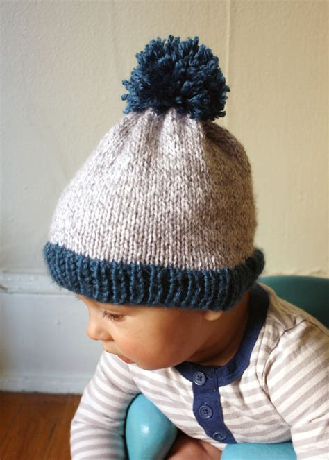 the big knit patterns michael made big pom baby beanie now with free pdf