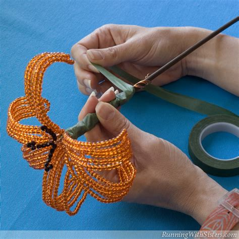 how to make beaded flowers how to make beaded flowers running with