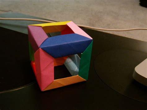modular cube origami open cube modular origami