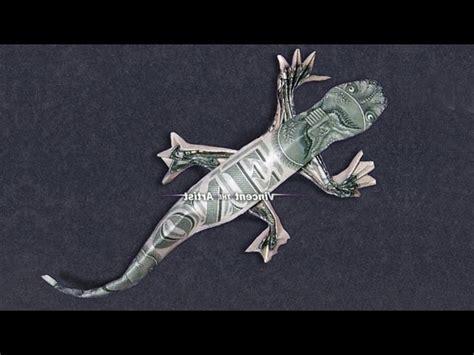 origami lizard money origami lizard dollar bill my crafts and diy
