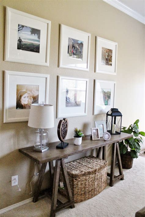 ideas for sofa table decor entry way living room decor ikea picture frame