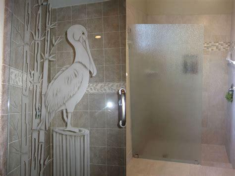 shower doors etched shower doors