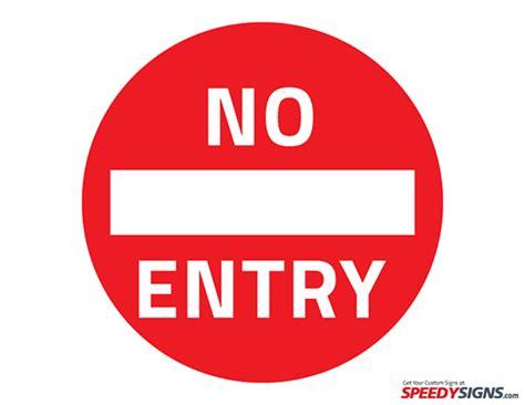 free no free no entry printable sign template free printable