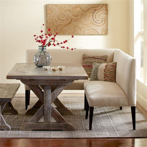 sectional dining room table eco linen sectional settee dining banquette bench