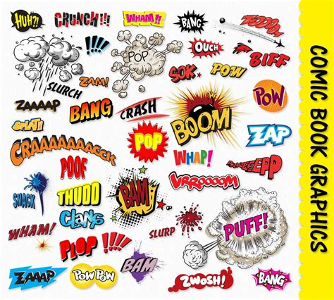 comic book picture effect comic book clip graphics pop clipart scrapbook