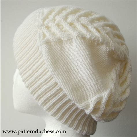 knit hat with brim pattern free pattern duchess cable knit slouchy beanie hat free