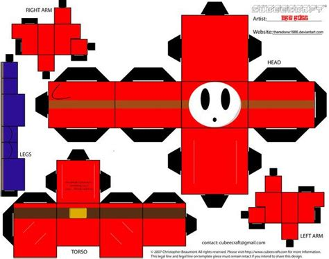 how to make origami mario 21 best images about character paper craft cube