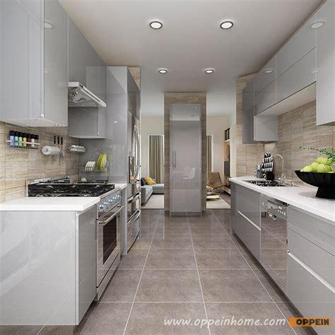 grey gloss kitchen cabinets op16 a01 modern light grey high gloss acrylic kitchen cabinet