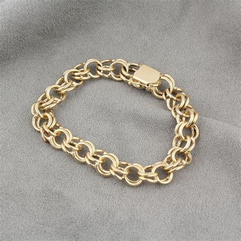 bracelet jewelry pre owned 14 karat yellow gold charm bracelet