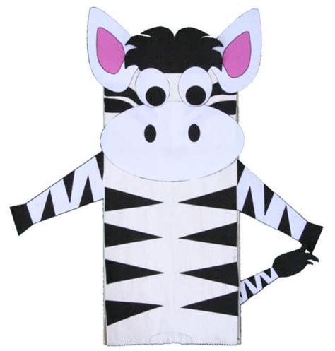 zebra craft for paper bag zebra craft