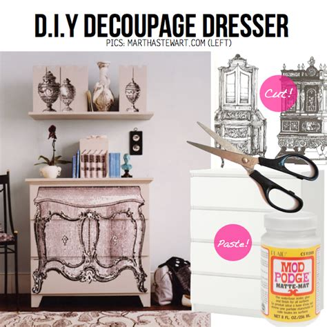 diy decoupage dresser diy dresser dress up 15 diy ideas tutorials