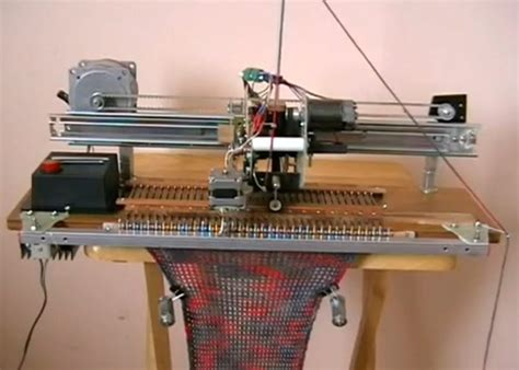 how to use a knitting machine diy robotic knitting machine sew what