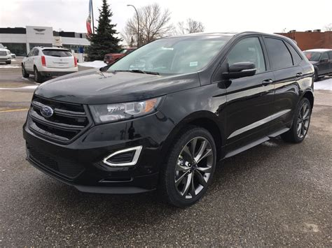 Black Ford Edge by New 2017 Ford Edge Sport 4 Door Sport Utility In Calgary