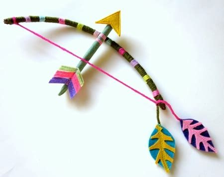 bow and arrow craft for cirkus clothing