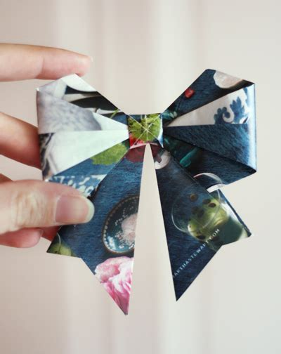 how to make paper from magazines make origami bows from magazine pages how about orange