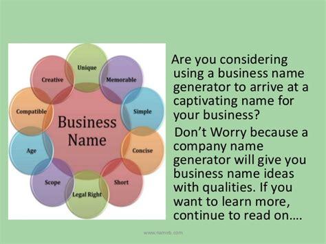 creative names creative business name generator