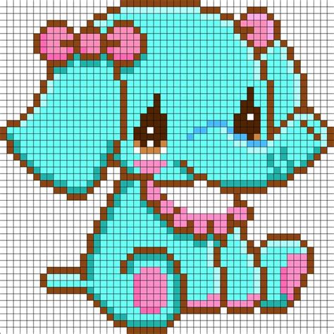 kawaii perler bead patterns sitting elephant perler bead pattern bead sprites