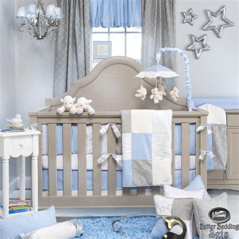 boy nursery bedding set details about baby boy blue grey designer quilt