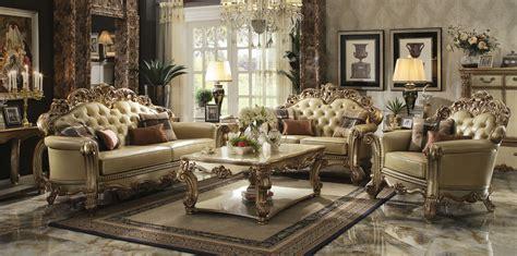 royal furniture living room sets gold patina vendome royal living set by acme furniture