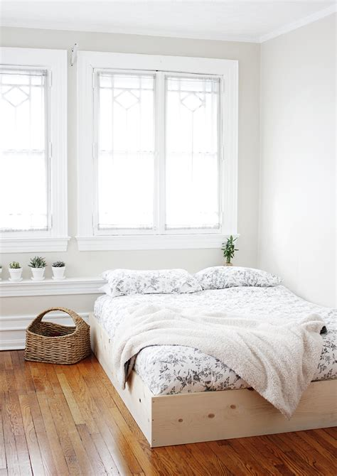 simple white bed frame diy simple bed frame 187 the merrythought