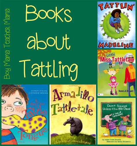 books for books about tattling boy