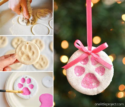 diy salt dough ornaments paw print salt dough ornaments one project