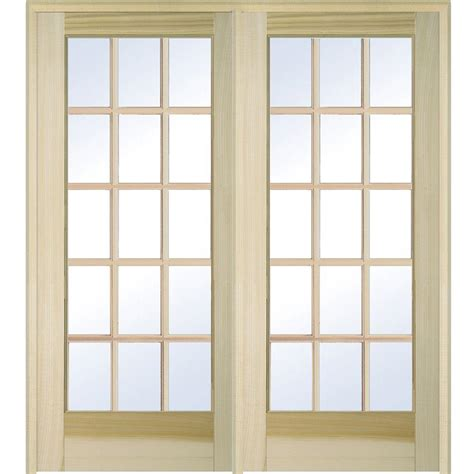 28x80 interior door builder s choice 48 in x 80 in 10 lite clear wood pine
