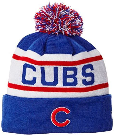 cubs knit hat chicago cubs pom hat cubs hat with pom cubs pom beanie