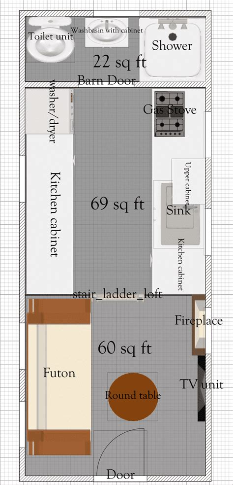 tiny home floor plans free tiny house floor plans 8 x 20 tiny house plan