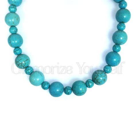 turquoise beaded necklace beaded turquoise gemstone statement necklace glamorize