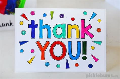thank you cards for children to make printable thank you cards to make with your