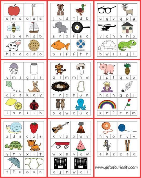 beginning card beginning sounds alphabet clip cards 101 ways to teach