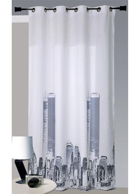 rideau en bachette imprim 233 new york blanc homemaison vente en ligne rideaux