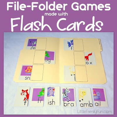 make your own index cards family file folder flash cards