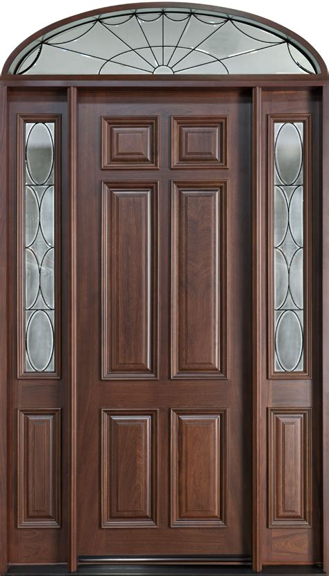 custom front doors front door custom single with 2 sidelites w transom